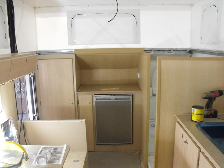 Camper van under construction.