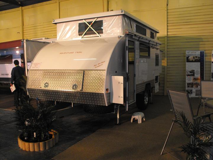 Camper van on display: Brisbane Camping and Caravan Show, 2010