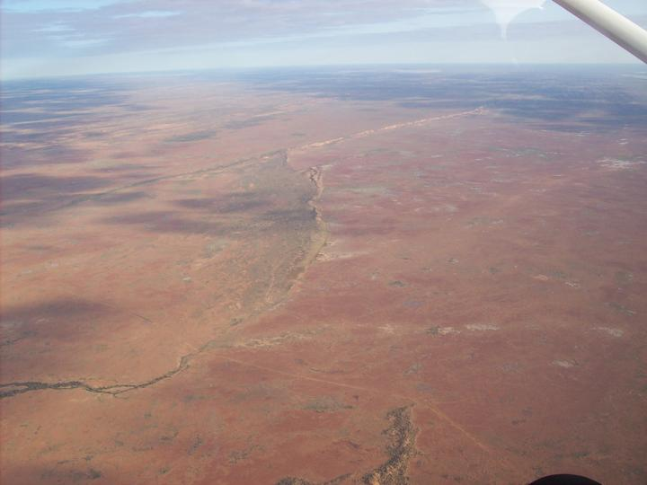 Flight over Lake Ayre