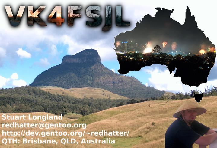 My QSL card as VK4FSJL